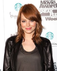pixie cut with emma stone red hair color...this could be dangerous