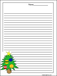Christmas Primary Lined Writing Paper  School And Homeschool