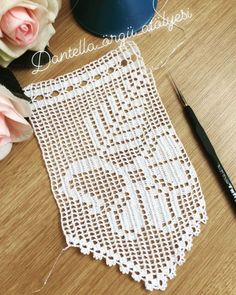 Crochet Edging Patterns, Baby Knitting Patterns, Crochet Designs, Lace Bedding, Hand Applique, Chocolate Decorations, Short Bob Hairstyles, Easy Knitting, Filet Crochet