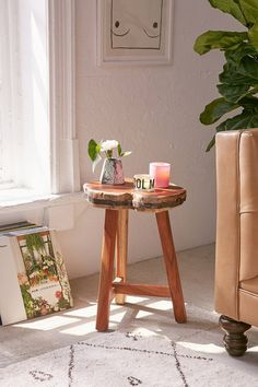 Live Edge Stool | Urban Outfitters