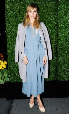 Meet Pantone's Color(s) of the Year 2016: Rose Quartz and Serenity - Suki Waterhouse at a Burberry dinner in May 2014  - from InStyle.com
