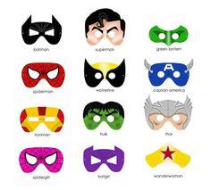 Printable masks for superhero party or double as face painting ideas! Superhero Classroom, Superhero Party, Superhero Ideas, Batman Party, Superhero Writing, Superhero Images, Classroom Decor, Superhero Logos, Printable Masks