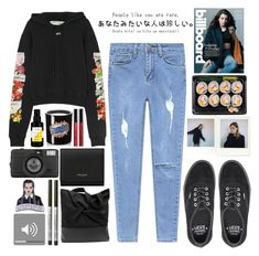 """24•2018"" by dynh ❤ liked on Polyvore featuring Off-White, Vans, Sisley, Lomography, Yves Saint Laurent, Borghese and TheBalm"