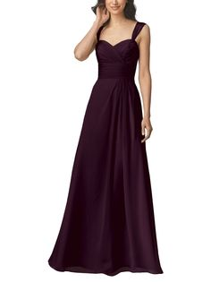 Wtoo by Watters Style 906 is a full length, sweetheart neckline bridesmaid dress with straps, widestraps, and a gathered a-line skirt. Style 906 is made of crystal chiffon.
