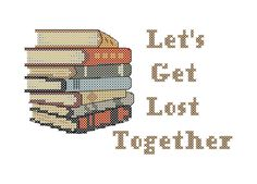 Cross Stitch Pattern Book Stack Let's Get by oneofakindbabydesign, $6.95