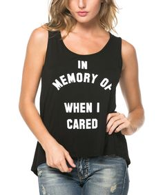 Look at this Black 'In Memory Of' Tank on #zulily today!