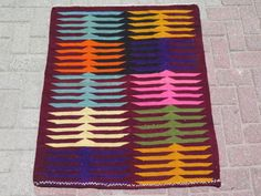 Anatolian-Turkish-Antalya-Sofreh-Kilim-33-8-x-39-3-Area-Rug-Kelim-Carpet