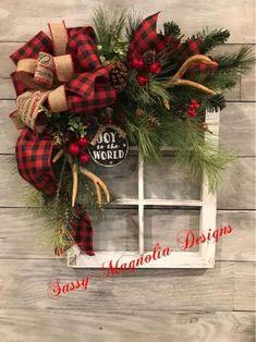 34 Christmas Handmade You Will Definitely Want To Save christmaswreaths christmas wreaths christmasdecorations 757378862315198666 Christmas Frames, Plaid Christmas, Simple Christmas, Beautiful Christmas, Christmas Home, Handmade Christmas, Christmas Holidays, Christmas Ornaments, Christmas Island