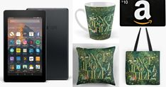 Enter this giveaway for a chance to win a Kindle Fire, a $10 Amazon gift card and a Once Upon a Time mug, pillow and tote bag set des...