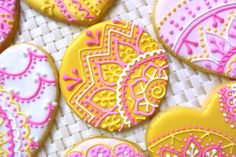 Custom Circle Lace Sugar Cookies (Set of Six) by Sweet17Cookies on Etsy
