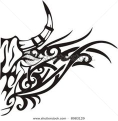 tribal bull art