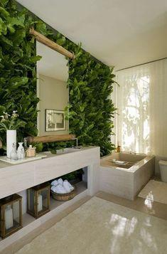 Plantas en baños deco baños color verde #Decoracionbaños
