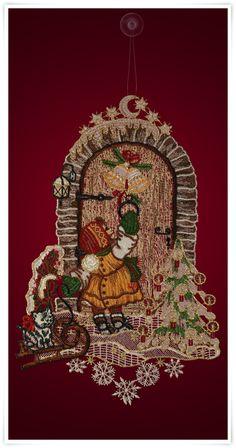 Fensterbild mit Weihnachtsmotiv