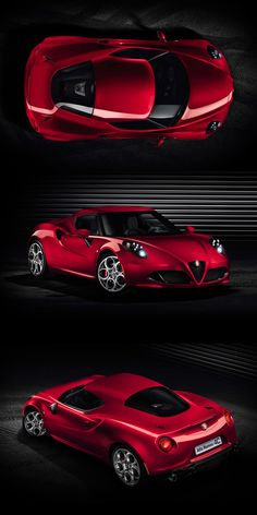 ★ Red car 2014 Alfa Romeo 4C Sports Coupe