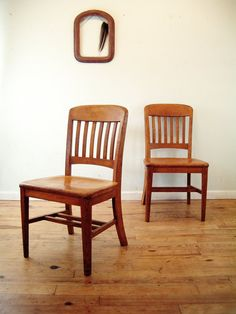 old timey school chairs