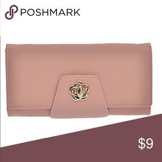 Pink(Mauve) Wallet Pinkish or Mauve Wallet with flower detail closure Bags Wallets
