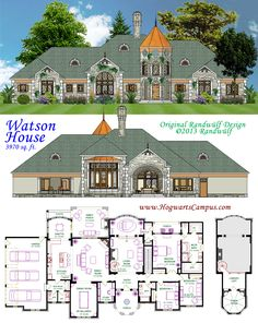 Gorgeous English manor house design, almost 4000 square feet. House Plans Mansion, Sims House Plans, House Layout Plans, Best House Plans, Dream House Plans, House Layouts, House Floor Plans, Home Building Design, Building Plans