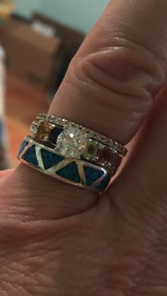 Mother's engagement ring given for Christmas on the occasion of our 35th wedding anniversary.
