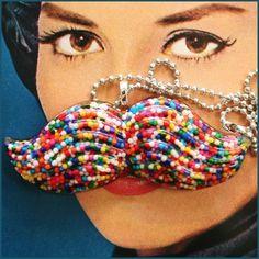 Candy mustache!