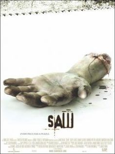 Saw is a 2004 American psychological horror film directed by James Wan. It is Wan's feature film directorial debut. Creepiest Horror Movies, Scary Movies, Great Movies, Horror Movie Posters, Horror Films, Danny Glover, Jigsaw Saw, Local Movies, Movie Plot