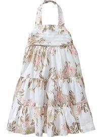 Floral Halter Dresses for Baby