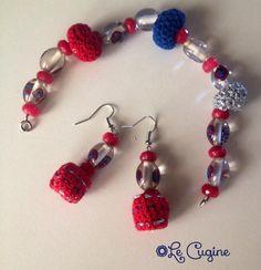 Lecuginecreazioni#parurebraccialeorecchini#crochet#vetro