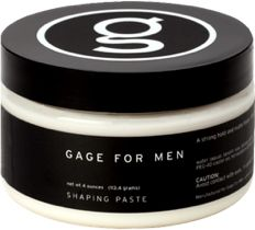 GAGE FOR MEN Shaping Paste - Adds thickness and texture to the hair, provides a strong pliable hold with a matte finish, perfect for the man who needs maximum control over his hair