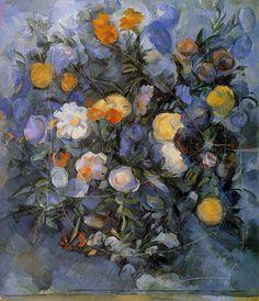 Flowers. Paul Cezanne  #cezanne #paintings #art