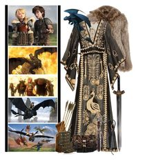 """""""How To Train Your Dragon"""" by fashionqueen76 ❤ liked on Polyvore featuring York Wallcoverings, Elizabeth and James, Calypso St. Barth, River Island, Alaïa and dreamworks"""