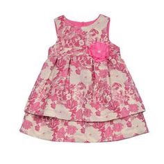 CHELSEA DRESS (PINK AND GOLD BROCADE)