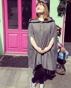 Day 6: Poncho I made last spring. Love love wearing this and getting in touch with my inner hobbit. #fargegaten #poncho #mmmay16