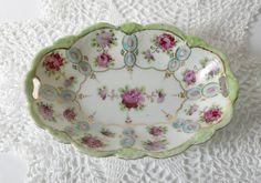 Antique Vintage Nut or Candy Dish  pink
