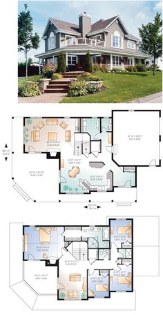 European House Plan 76322 | 《Planos & Fachadas》 | Pinterest ...