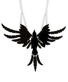 Raven Necklace - Black // Contemporary 2015 // £85 (sale £68)