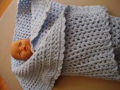 Baby blue eyes soft crochet blanket by TenderTatter on Etsy, $20.00