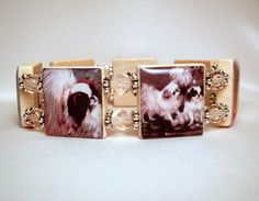 JAPANESE CHIN Bracelet / UPCYCLED / Scrabble Jewelry / Dog Lover Gift - 2