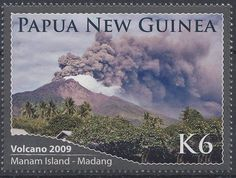 Papua New Guinea Manam volcano Photos Voyages, Island, Papua New Guinea, Science And Nature, All Over The World, Geology, Postage Stamps, Natural, Geography