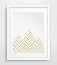 Gold Mountain Nursery Wall Print Golden by MelindaWoodDesigns #Mountaindecor #nurseryart