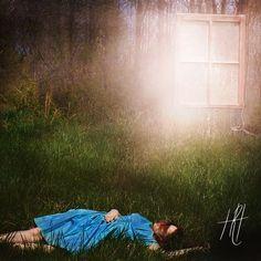 """Portal to a Dreamers' Mind"" Fine Art Photograph Print https://www.etsy.com/listing/239844241/surreal-portrait-photograph-print-window"