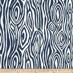 Navy wood grain Fabric upholstery Yardage Faux Bois tree Premier Prints blue Willow cotton slub Home Decor - 1 yard or more - SHIPS FAST