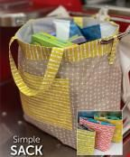 Simple Sack sewing pattern from Atkinson Designs. This Simple Sack pattern makes it so easy to be green! Wool Applique Patterns, Sewing Patterns, Bag Patterns, Stash Fabrics, Diy Bags Purses, Reusable Grocery Bags, Sack Bag, Small Quilts, Shopping Bag