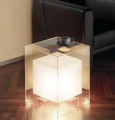 tavola luce light cube couch table