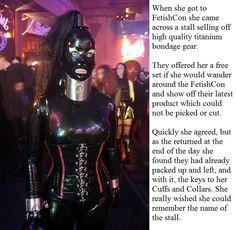 Have latex sissy bondage