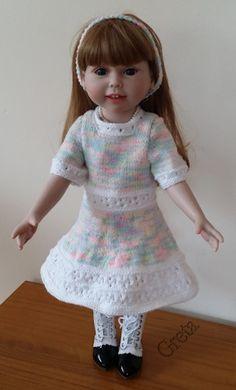 zelf gemaakt voor mijn pop:American Girl-Anna-45cm-wit-gemeleerd