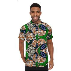 African Shirts Mens short Sleeve Men African Print Single row button lapel Tops Dashiki Clothes Personal