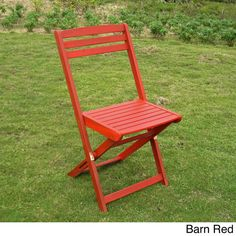 Acacia Hardwood Sky Blue, Mint Green, Bard Red Folding Chairs (Set of 2) 32 inches high x 18 inches wide x 20 inches deep Weight: 15 pounds each