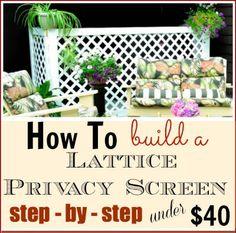 Lattice Privacy Screen Diy