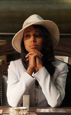 Louise Green White Hat from Olivia Pope's Top 10 Looks on Scandal | E! Online