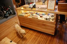 Whatever counter we adopt--it needs to have meaningful storage place. Could we aspire to a glass case of curiosities, too? Bike Shops, Bauhaus Art, Bicycle Store, Branding, Storage Places, Huckleberry, Retail Space, Shop Interiors, Bike Stuff