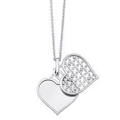 Diamond Engravable Heart Pendant by Birks #BirksMuse